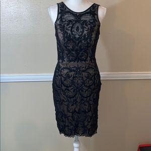 SUE WONG NOCTURNE STUNNING BLACK COCKTAIL DRESS